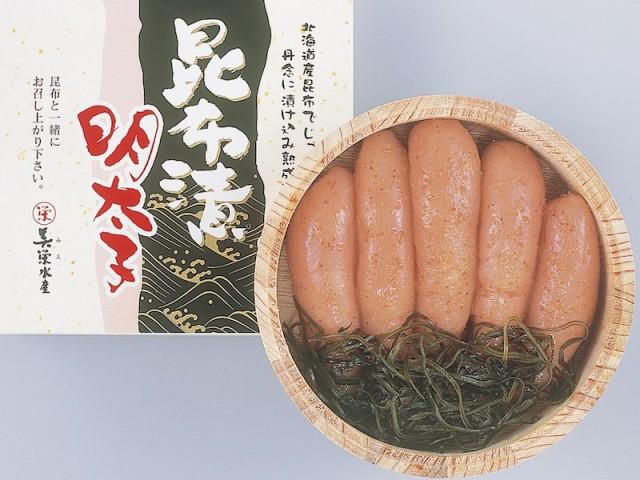 送料無料 【無着色】昆布漬け辛子明太子230g(木樽入り) ギフト お取り寄せ 通販