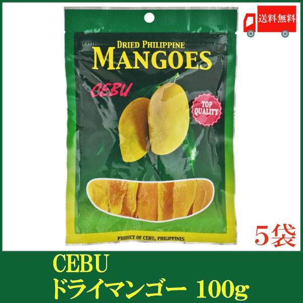 ドライフルーツ セブ ドライマンゴー 100g ×5袋 送料無料