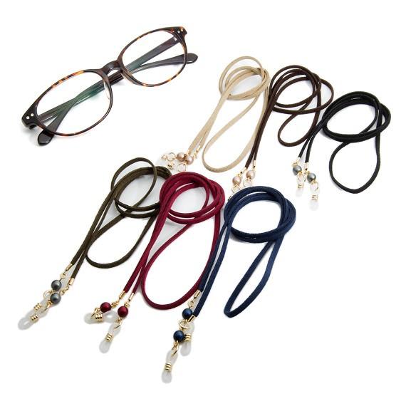 眼鏡チェーン メガネチェーン レディース 眼鏡ストラップ メガネストラップ フェイク レザー パール ゴールド シルバー グラスホルダー