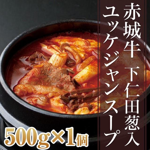 肉 国産牛 牛肉 赤城牛 ユッケジャンスープ 下仁田葱入り 500g