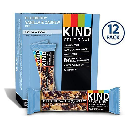 KIND Bars Blueberry Vanilla and Cashew(ブルーベリーバニラ&カシュー) 40g×12袋