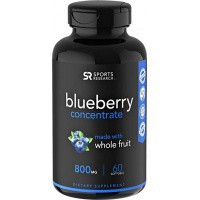 ●Sports Research Wild Blueberry Concentrate 800mg 60粒