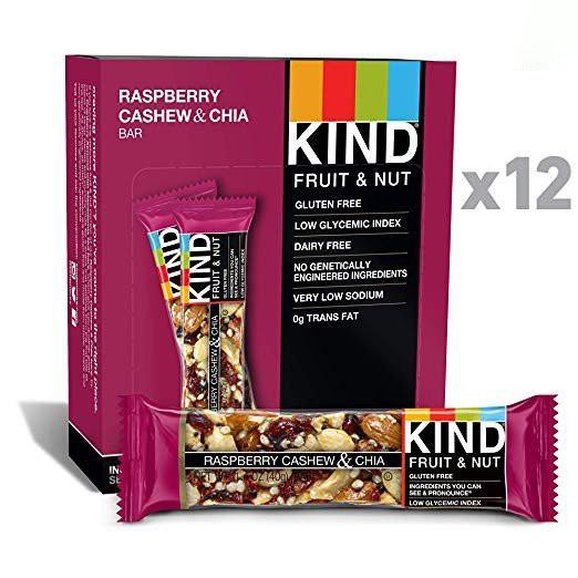 KIND Bars Raspberry Cashew and Chia(ラズベリーカシュ&チア) 40g×12袋