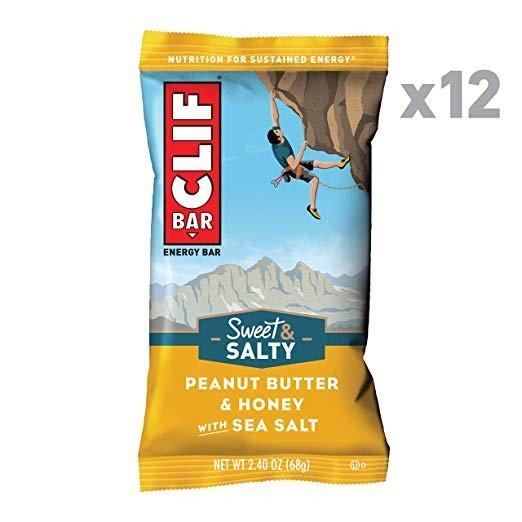 ●CLIF BAR Sweet Salty Energy Bar - Peanut Butter Honey with Sea Salt 68g 12本入り