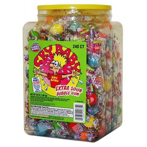 ●すっぱいガム Cry Baby Extra Sour Bubble Gum 240個入り(個包装)