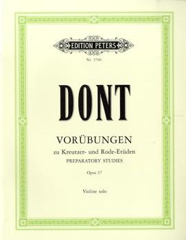 GYS00072353 ドント : クロイツェルとロード(ローデ)への24の準備的練習曲 Op.37DONT 24 EXERCISES PREPARATORY TO KREUTZE 弦楽器【楽