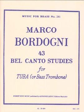 ボルドーニ : チューバのための43のベルカント練習曲【楽譜】【沖縄・離島以外送料無料】