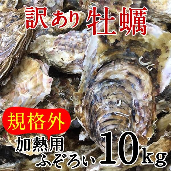 牡蠣 訳あり [規格外] 10kg 加熱用 殻付き牡蛎 漁師直送 カキ 生かき 三陸 宮城県産
