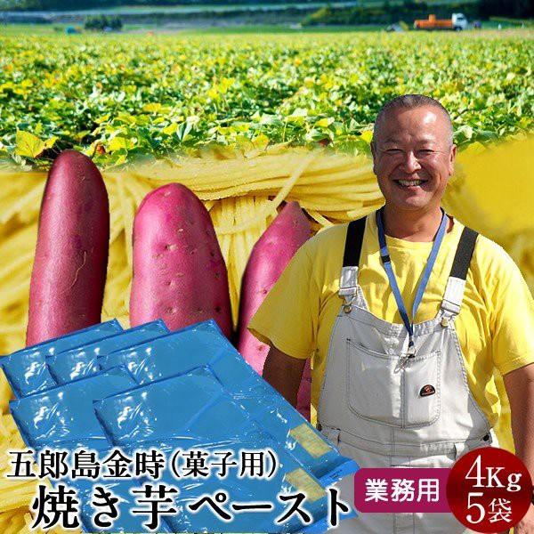さつまいも 焼き芋 五郎島金時 4kg 業務用 ペースト(1mm)×5袋 石川県産 加賀野菜 さつま芋 農家屋直送