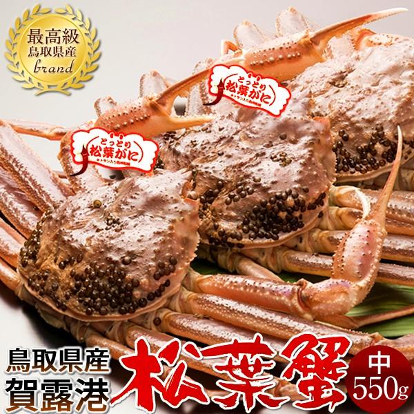 かに 松葉ガニ[中]550g×3尾 松葉蟹 活がに 鳥取県産 ブランドタグ付きマツバガニ 日本海ズワイガニ
