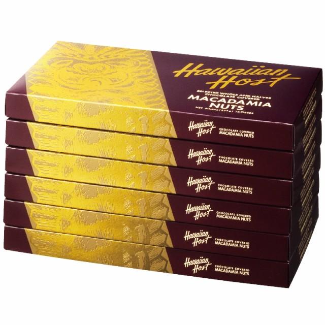 ハワイアンホースト ゴールドクラシック マカデミアナッツチョコレート 6箱セット