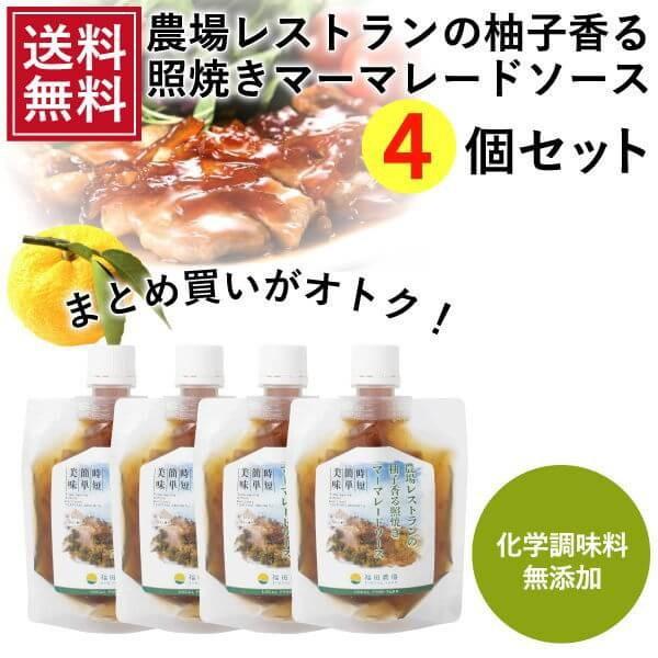 熊本発 簡単料理たれ ゆずマーマレード 照り焼き 調味料 150g 4袋 送料無料