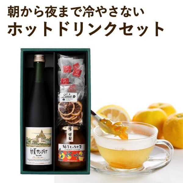 ギフト 熊本 サングリア 柚子しょうが茶 レモンティー ドライレモンセット