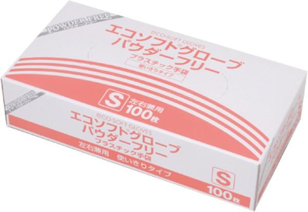 エコソフトグローブ パウダーフリー OM-370 Sサイズ 1箱100枚 プラスチック手袋 オカモト【返品不可】