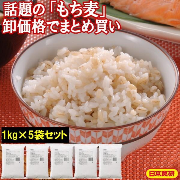 もち麦 ごはんの素1kg(1kg×5袋セット) 送料無料 日本食研 公式 業務用 gy