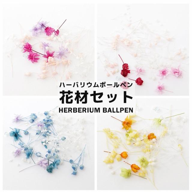 【色が選べる】ハーバリウムボールペン 花材 フラワーダスト 花材 ドライフラワー 封入パーツ ハーバリウムペン ハーバリウム ペン 手作