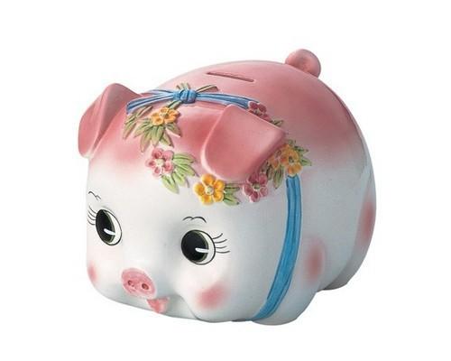 サンファームSun farm ピギーバンク 豚 貯金箱特大 ピンク S0059