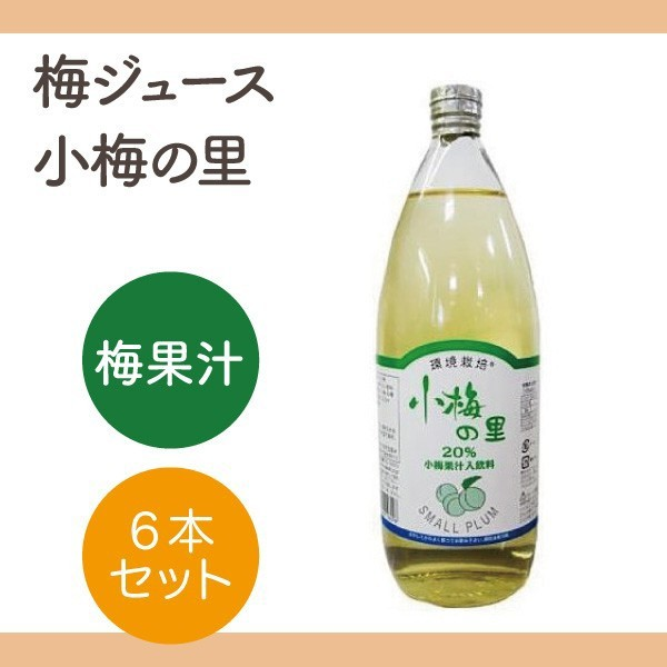 信州自然王国 環境栽培 小梅の里 梅果汁飲料 6本セット