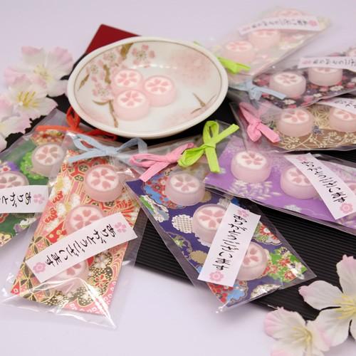桜小町 キャンディー 3個 小分け袋・デコシール対応商品 ウェディング プチギフト 二次会 退職 お菓子 お礼 2次会