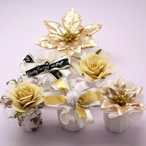 シュシュハート 単品 ドラジェ 3個 ウェディング プチギフト クリスマス 二次会 結婚式 退職 お礼 お菓子 Xmas