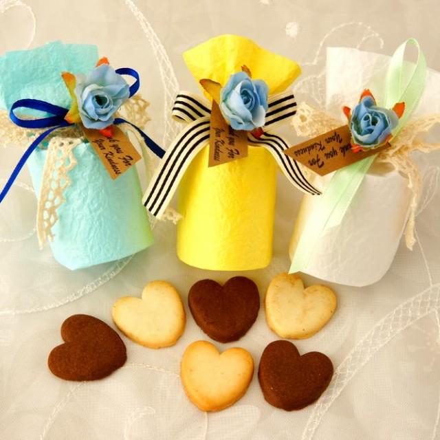 送料無料 メルシークッキー ハートクッキー 6枚入り(10個セット) ウェディング プチギフト 二次会 退職 お礼 お菓子
