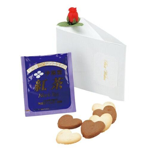 グレイス 単品 ハートクッキー 6枚 紅茶 1包入り ウェディング プチギフト 二次会 退職 お礼 お菓子結婚式 2次会