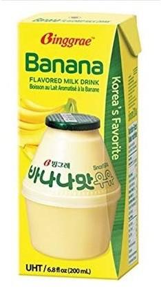 ビングレ バナナ 牛乳 紙パック 200ml