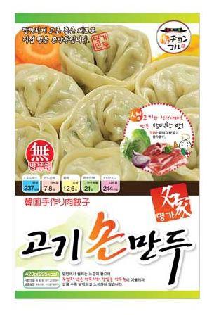 【韓国食品|餃子|冷凍】 名家 肉餃子420g(家庭用)