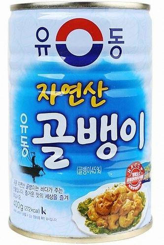 【ユドン】つぶ貝缶詰(小)自然産140g