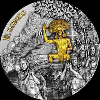 アンティークコイン 2020ニウエ$ 5エルドラドゴールド金メッキ2オンス999シルバーコイン-500ミンタージュ 2020 Niue $5 El Dorado Gold G