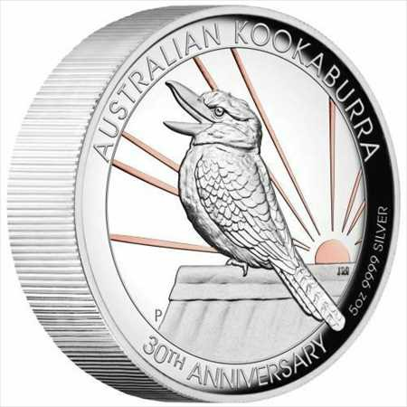アンティークコイン 2020オーストラリア$ 8高浮き彫りピンク金メッキワライカワセミ5オンス銀貨-500製 2020 Australia $8 High Relief Pi