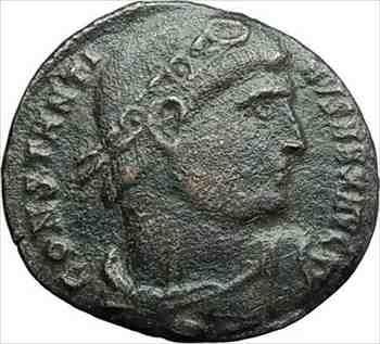 アンティークコイン コンスタンティヌス1世は307AD古代ローマのコインリースの成功i78742 CONSTANTINE I the Great 307AD Ancient Roman