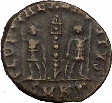 アンティークコイン コンスタンスゲイ皇帝コンスタンティヌス大息子ローマ軍の栄光i35519 Constans Gay Emperor Constantine the Great s