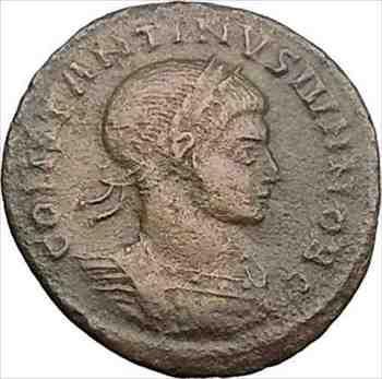 アンティークコイン コンスタンティヌス2世コンスタンティヌス大王古代ローマのコインリースi30974 Constantine II Constantine the Grea