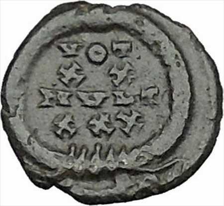 アンティークコイン コンスタンティウス2世コンスタンティヌス1世偉大な息子古代ローマのコインリースi40427 Constantius II Constantine