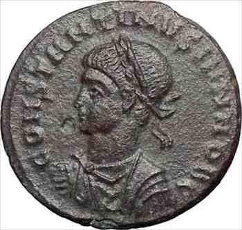 アンティークコイン コンスタンティヌス2世コンスタンティヌス大王古代ローマのコインリースi28328 Constantine II Constantine the Grea