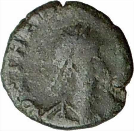 アンティークコイン THEODOSIUS II 408AD古代ローマのコインリース i20662内で交差 THEODOSIUS II 408AD Ancient Roman Coin Wreath cros