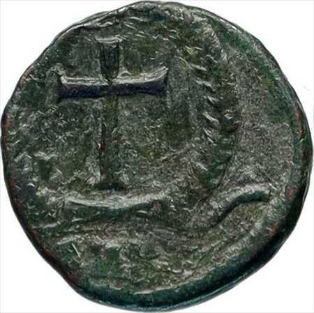 アンティークコイン THEODOSIUS II 425AD本物の古代ローマのコインリース i46741内で交差 THEODOSIUS II 425AD Authentic Ancient Roman