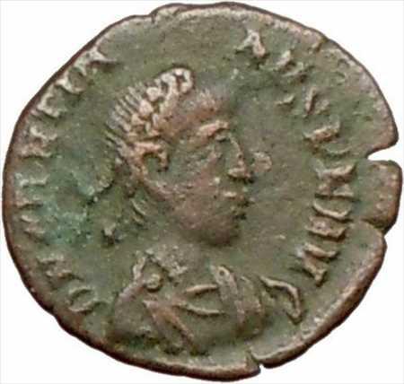 アンティークコイン グラティアヌス379AD本物の古代ローマのコインリースi27427 Gratian 379AD Authentic Ancient Roman Coin Wreath i27