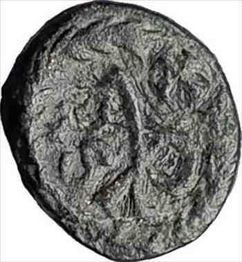 アンティークコイン マルキアヌスモノグラムリース450ADコンスタンティノープル本物の古代ローマのコインi65062 MARCIAN Monogram Wreath