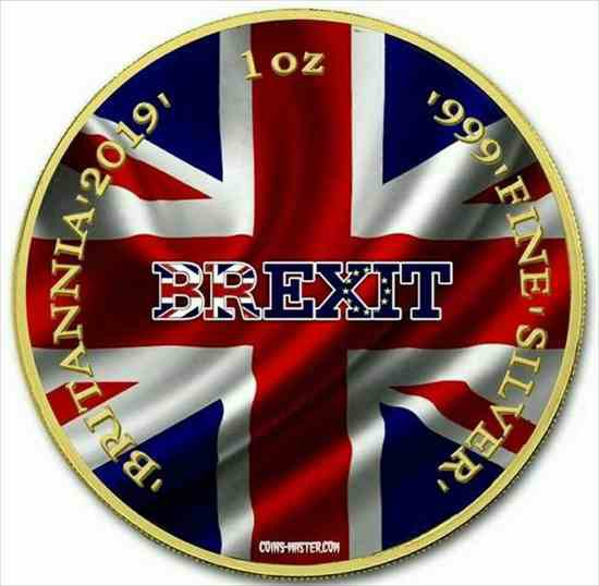 金貨 銀貨 硬貨 シルバー ゴールド アンティークコイン 2019 1オンスシルバー?2英国ブリタニアブレキシットコイン 24Kゴールド 2019 1 Oz