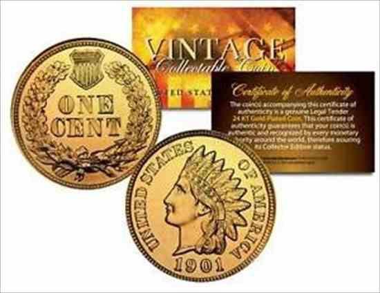 金貨 銀貨 硬貨 シルバー ゴールド アンティークコイン たくさんの2つのインディアンヘッドセントペニーUSコイン24Kゴールドプレートペニ