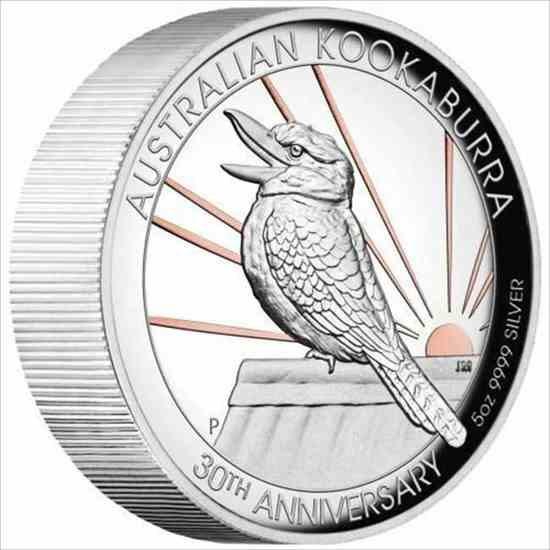 金貨 銀貨 硬貨 シルバー ゴールド アンティークコイン 2020オーストラリア$ 8高浮き彫りピンク金メッキKookaburra5オンス銀貨-500製 202