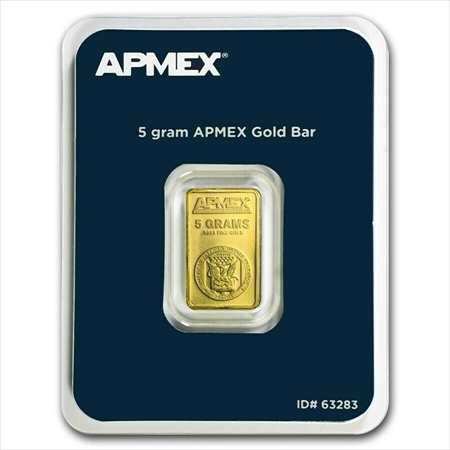 金貨 銀貨 硬貨 シルバー ゴールド アンティークコイン APMEX5グラムの金の延べ棒-アッセイカード内~~高速配送~~ APMEX 5 gram Gold Bar
