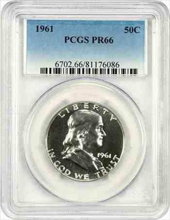 金貨 銀貨 硬貨 シルバー ゴールド アンティークコイン 1961 50c PCGS PR 66-フランクリンハーフダラー 1961 50c PCGS PR 66 - Franklin