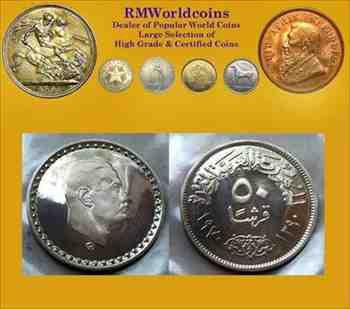 金貨 銀貨 硬貨 シルバー ゴールド アンティークコイン エジプト197050ピアストル レアPLまたは プルーフ カメオ ディープミラー レアデ