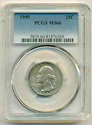 金貨 銀貨 硬貨 シルバー ゴールド アンティークコイン 1949ワシントンクォーターMS66 PCGS 1949 Washington Quarter MS66 PCGS