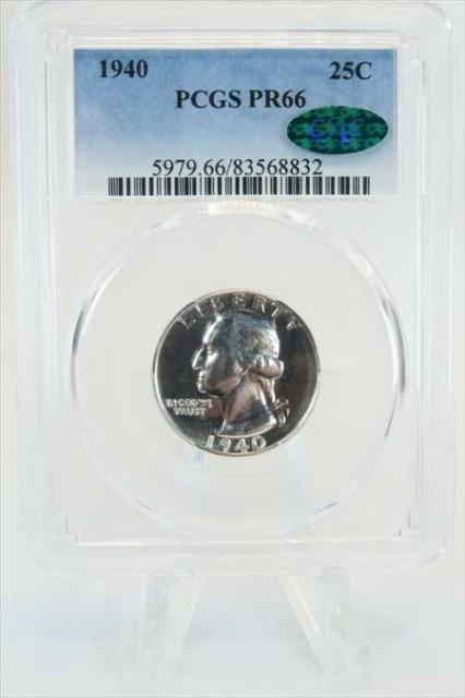 金貨 銀貨 硬貨 シルバー ゴールド アンティークコイン 1940-P PCGS PR66シルバーワシントンクォーター プルーフ 25CCAC承認レア 1940-P