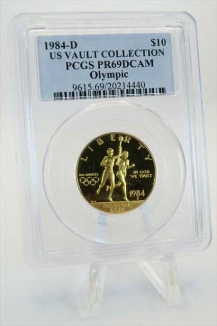 金貨 銀貨 硬貨 シルバー ゴールド アンティークコイン 1984-D PCGSPR69DCAMオリンピック金記念証明$ 10 1984-D PCGS PR69DCAM Olympic G