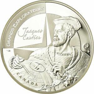 金貨 銀貨 硬貨 シルバー ゴールド アンティークコイン Qアノン ビットコイン トランプ #518987 France Jacques Cartier 10 Euro 2011 MS